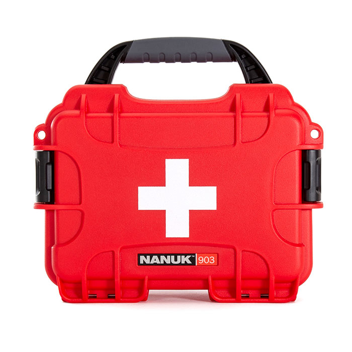 Nanuk 903 First Aid case Front