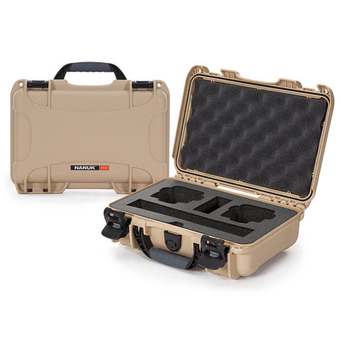 Nanuk Media 909 DJI™ Osmo Action Case Tan